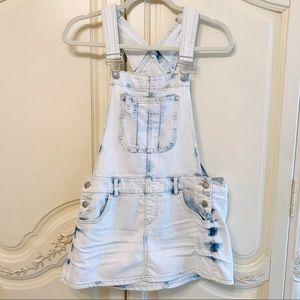 Light Blue Denim Overalls Dress | Blue Spice